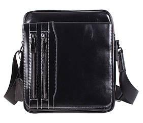Мужская кожаная сумка DL5156-3 черная