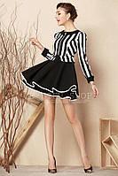 Платье ретро-полоска