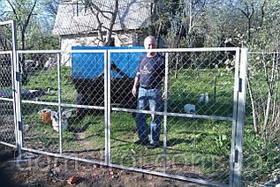 Ворота з сітки рабиця 3 м.