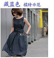 Свободный стиль льняное платье 5 цветов