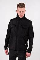 Мужская весенняя куртка Dark Side черного цвета