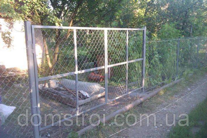 Ворота из сетки рабицы под ключ, фото 2