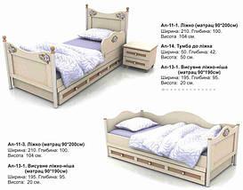 Кровать-диван под матрас 900х2000 An-11-3 Angel комби (береза с вишней), фото 2