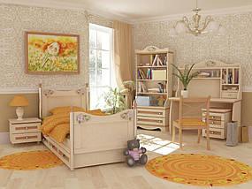 Кровать-диван под матрас 900х2000 An-11-3 Angel комби (береза с вишней), фото 3