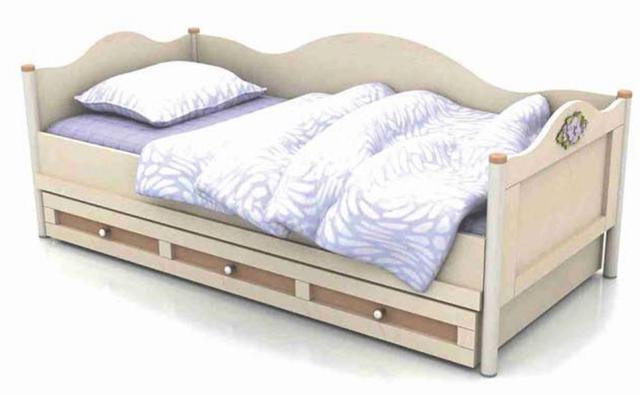 Кровать-диван под матрас 900х2000 An-11-3 Angel береза и вишня + ящик выдвижной An-13-3