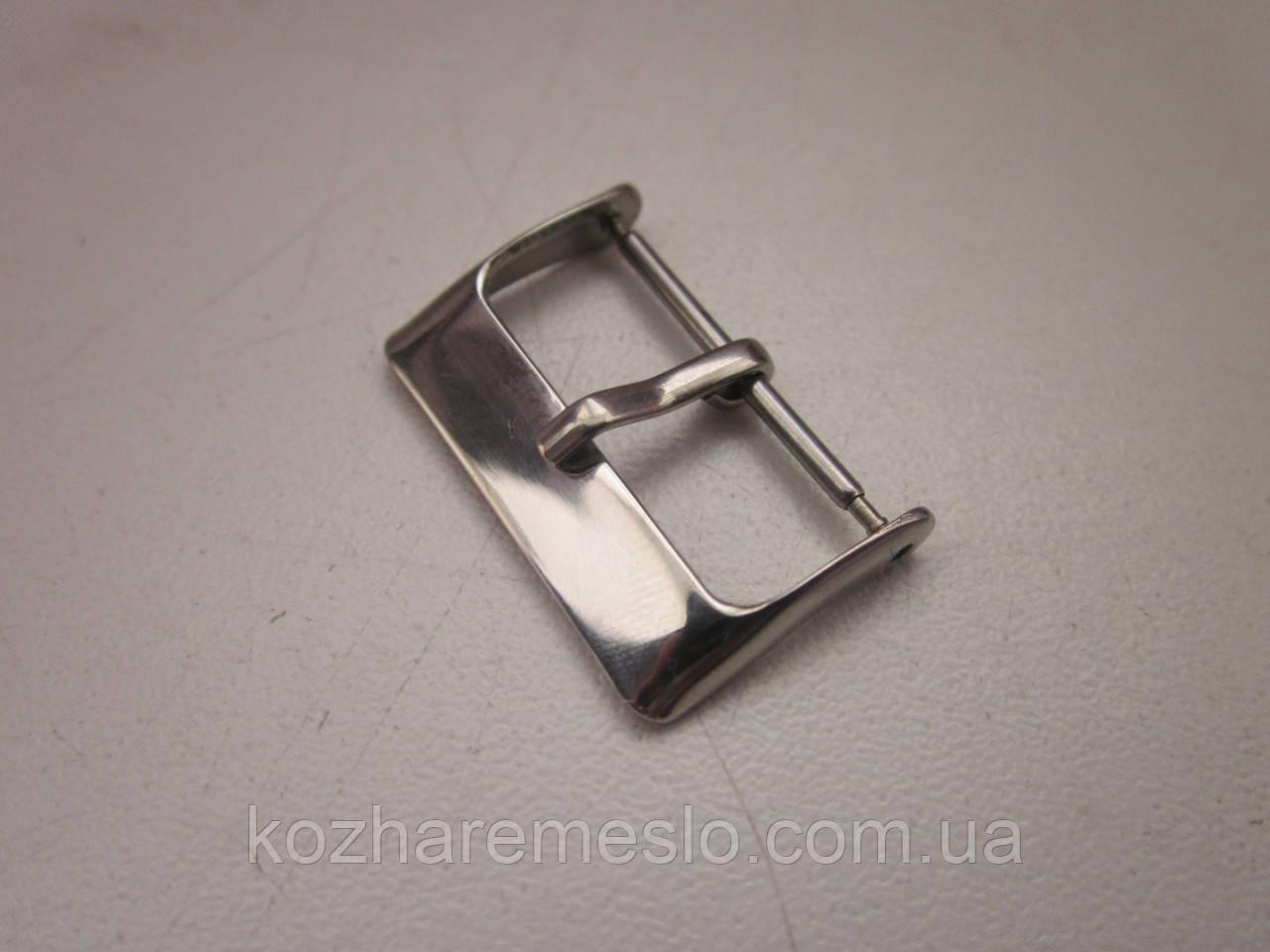 Пряжка - застёжка для часов 20 мм никель