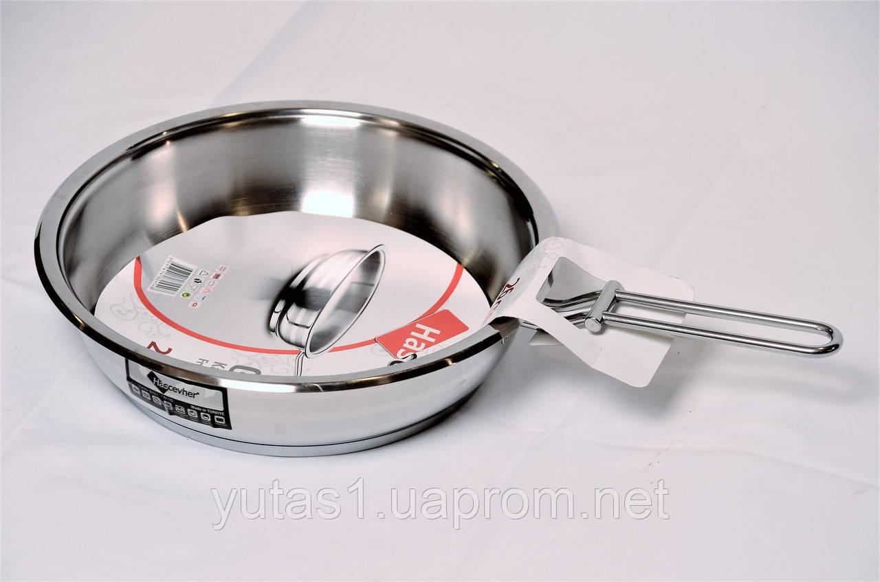Сковорода из нержавеющей стали без крышки 26x7 Hascevher