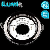 Світильник цілий. вбуд. Ilumia 050 RL-GX53-90-black під лампу GX53, 90мм