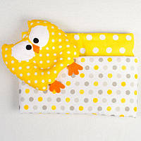 Комплект в коляску BabySoon Совунья одеяло 65х76 см подушка 22х26 см желтый , фото 1