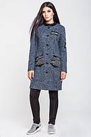 Женское шерстяное пальто с карманами, фото 1