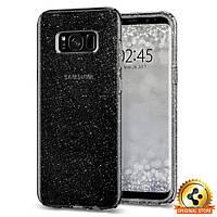 Чехол Spigen для Samsung S8 Liquid Crystal Glitter, Space Quartz, фото 1
