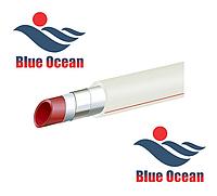 Полипропиленовая (Композит) труба Blue Ocean pn25 d25 с алюминием. Не зачистная