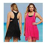 Пляжное парео-майка розовая - L бюст 92см, длина 86см, 35% полиэстер, 65% cotton, фото 3