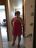 Пляжное парео-майка розовая - L бюст 92см, длина 86см, 35% полиэстер, 65% cotton, фото 4