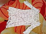 Пляжное кружевная туника белая - 42размер (бюст 84см, бедра 90см), длина 77см, cottone, polyester, фото 6