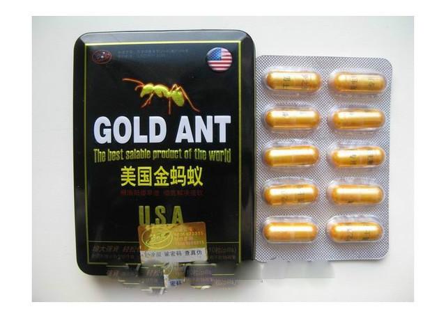 Препарат для потенции Gold Ant Голд Ант - Золотой Муравей  10 капсул в упаковке