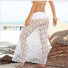 Пляжная юбка белая - 42-46 размер, 100% полиэстер, длина 100см