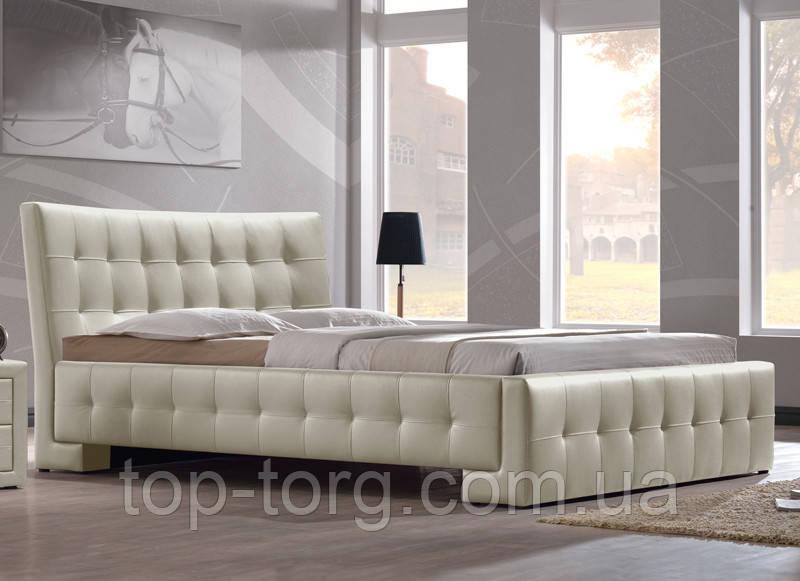 """Ліжко """"Барселона"""" кремова(слонова кістка / беж / бежевий), двоспальне,1600х2000"""
