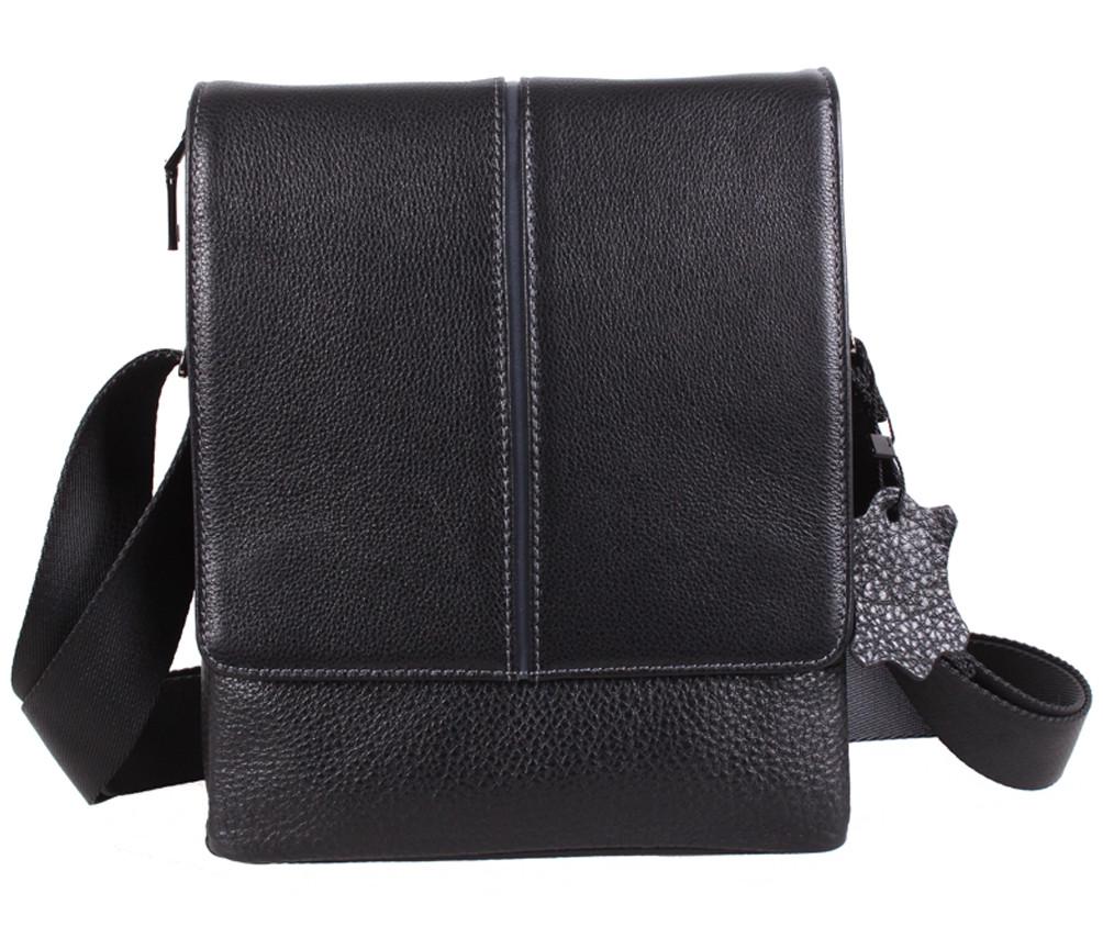 Мужская кожаная сумка Dovhani DL1588-4 черная