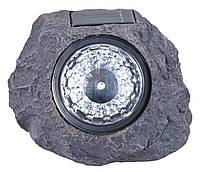 Садовый фонарик декоративный  в виде камня на солнечной батарее