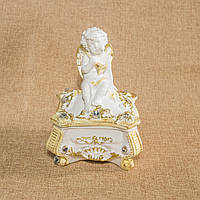 Шкатулка Ангелочек (низкая, золото)