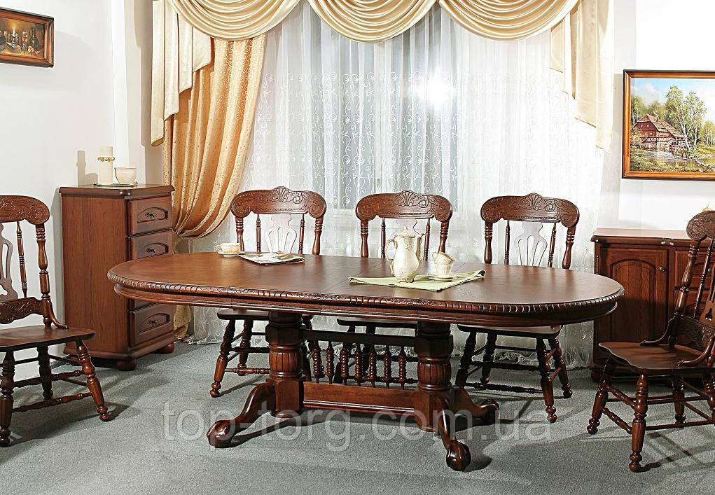 Стол раскладной HNDT-4296 SWC (4296-1) деревянный, темный орех