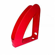 Лоток вертикальный РАДУГА, пластиковый, красный 240х70х305 мм