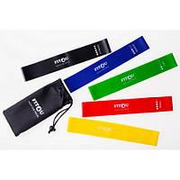 Резинки для фитнеса Набор из 5 шт в сумочке