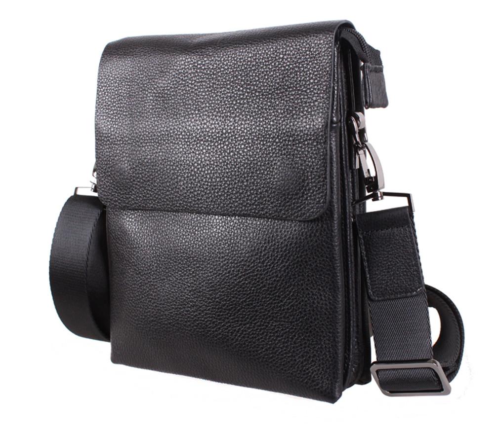 Мужская кожаная сумка DL5129-4 черная