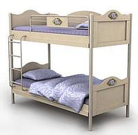 Двухъярусная кровать An-12 Angel комби (береза с вишней)