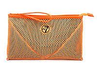 Косметичка W7 Large Mesh Bag большая сетка - Orange