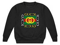 Свитшот чёрный Gucci logo | Кофта топ