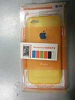 Силіконовий чохол-накладка для iPhone 5G золото