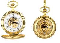 Карманные механичиские часы, цвет золото