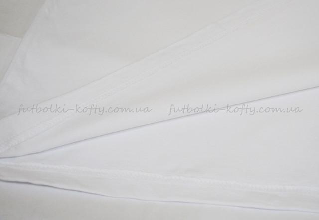 Белая мужская футболка плотная мягкая