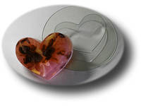 Форма пластиковая сердечко