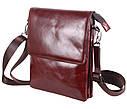 Мужская кожаная сумка Dovhani COFFEE007-4 коричневая, фото 2