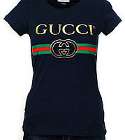 Футболка женская Gucci лого топ