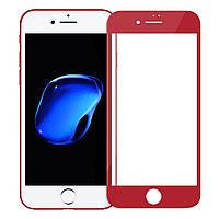 Защитное стекло 0.3mm Caesar 3D Full Glass iPhone 7 red Remax 350053, фото 1