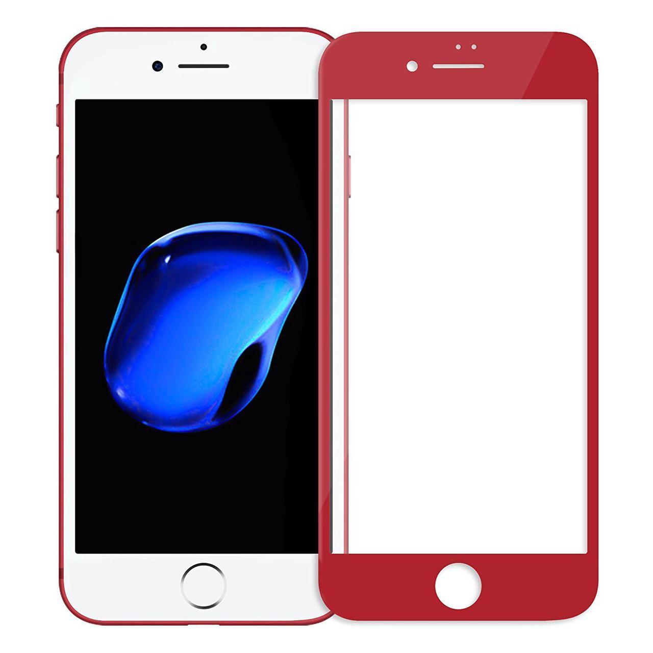 Защитное стекло 0.3mm Caesar 3D Full Glass iPhone 7 red Remax 350053