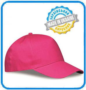 Розовая рекламная кепка пятиклинка ПРОМО