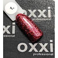 Гель-лак OXXI Professional Star Gel № 001 (гранатовый красный, с блестками и слюдой), 8 мл