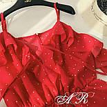 Женский летний комбинезон шорты креп-шифон (4 цвета), фото 4