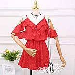 Женский летний комбинезон шорты креп-шифон (4 цвета), фото 5