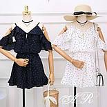 Женский летний комбинезон шорты креп-шифон (4 цвета), фото 3