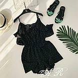 Женский летний комбинезон шорты креп-шифон (4 цвета), фото 10