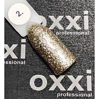 Гель-лак OXXI Professional Star Gel № 002 (светлый золотистый, с блестками и слюдой), 8 мл