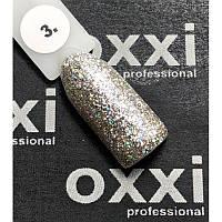 Гель-лак OXXI Professional Star Gel № 003 (серебристый, с блестками и слюдой), 8 мл