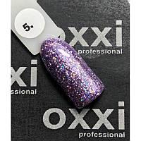 Гель-лак OXXI Professional Star Gel № 005 (сиреневый, с блестками и слюдой), 8 мл