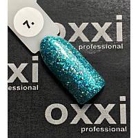 Гель-лак OXXI Professional Star Gel № 007 (зеленый, с блестками и слюдой), 8 мл